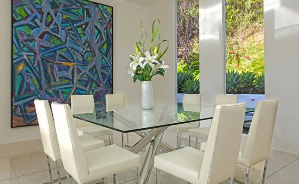 15 shimmering square glass dining room