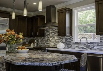 Black Kitchen Cabinets And White Countertops