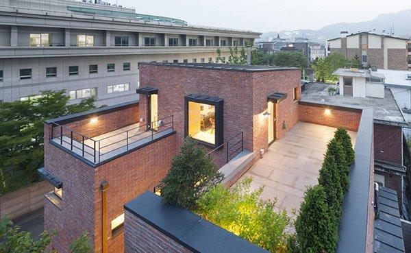 A Minimalist Brick House In Hyojadong South Korea Home