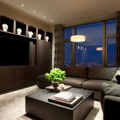 Living Room Console Tables Mirrored Art In 15 Modern Day Tv Ideas | Home Design Lover