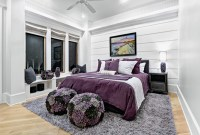 15 Stunning Black, White and Purple Bedrooms