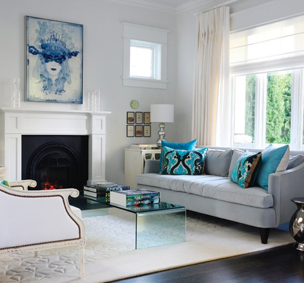 turquoise living room decorating ideas 15 Scrumptious Turquoise Living Room Ideas | Home Design Lover