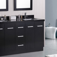 Sink And Faucet Kitchen Tables Chairs 15 Black Bathroom Vanity Sets | Home Design Lover