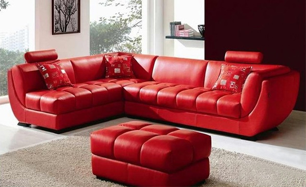 grey leather living room set entertainment 15 bold and red sofa designs   home design lover