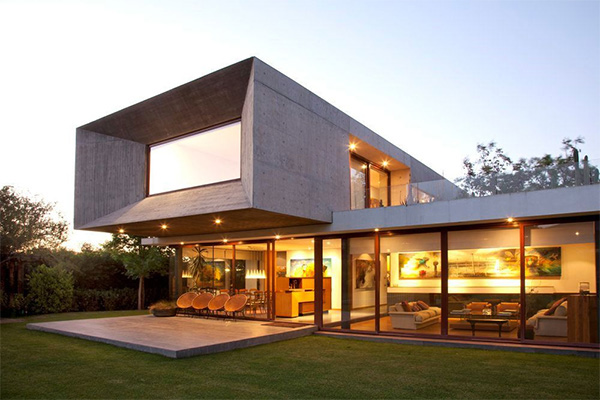 Wood In The Lumber Shaped Box House In Indonesia Home Design Lover