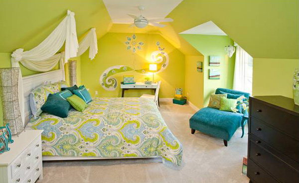 15 Refreshing Bedrooms in Yellow and Green Colors  Home