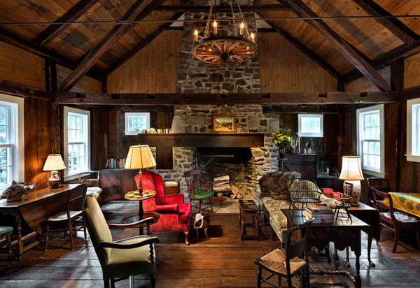living room decorating ideas with stone fireplace light gray 15 homey country cottage for rooms ...