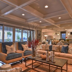 Rustic Accent Chairs Loose Dining Room Chair Covers Uk 15 Beautiful Traditional Coffered Ceiling Living Rooms | Home Design Lover
