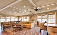 15 Beautiful Traditional Coffered Ceiling Living Rooms ...