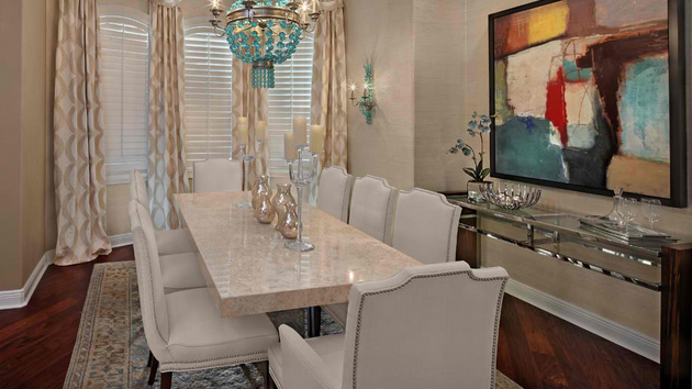15 Stunning Granite Top Dining Room Tables