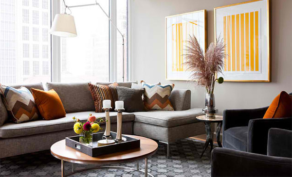 15 Ideas to Decorate a Modern Living Room With Throw