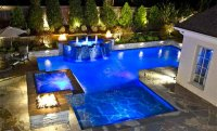 15 Dramatic Modern Pool Areas with Fire Pits | Home Design ...