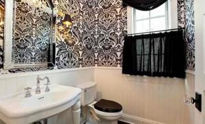 powder damask rooms bathroom bathrooms theme wall french decor bath too paper decorating designs decorpad works half roth rail allen