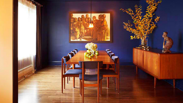 wall decorations for living room red furniture in how to get a blue and orange dining | home design lover