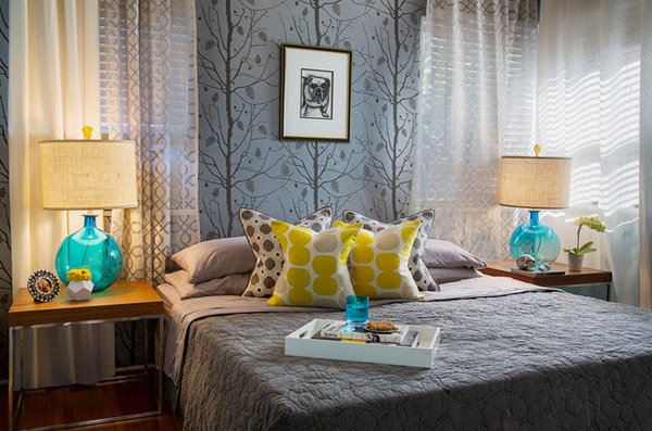 15 Gorgeous Grey Turquoise And Yellow Bedroom Designs Home Design Lover