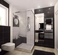 20 Sleek Ideas for Modern Black and White Bathrooms | Home ...