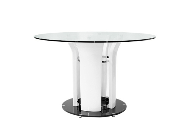 15 lovely circular white dining tables