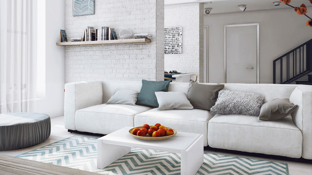 Gray Black And White Living Room