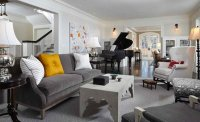 15 Grand Piano Set-ups in Traditional Living Rooms   Home ...