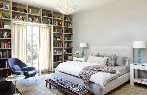 15 Ideas in Designing a Bedroom with Bookshelves  Home
