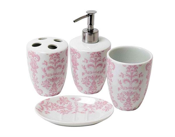 15 Chic Pink Bathroom Accessories Set  Home Design Lover