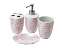 15 Chic Pink Bathroom Accessories Set | Home Design Lover