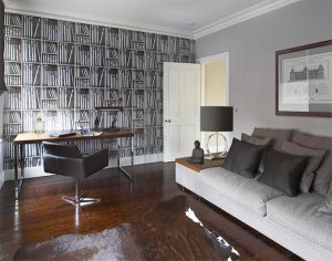 office study wallpapers manly masculine interior stunning spaces fornasetti space