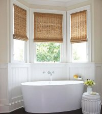 20 Designs for Bathroom Window Treatment | Home Design Lover