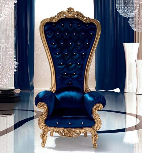 Navy Velvet Accent Chair