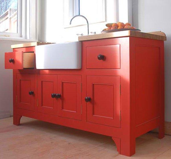 20 wooden free standing kitchen sink