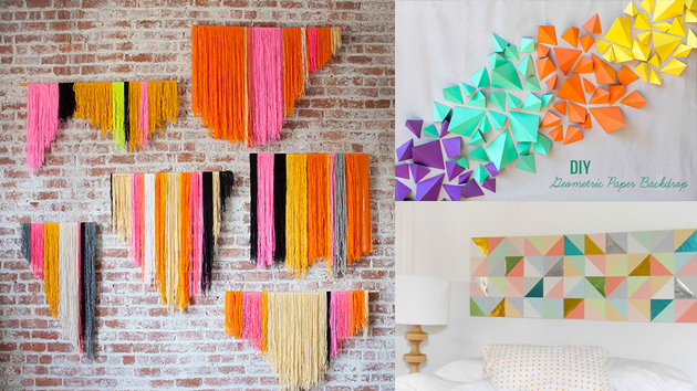 20 DIY Geometric Wall Art Decorations For A Vivid Modern