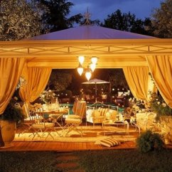 Outdoor Kitchen Pavilion Designs Wayfair Cart 20 Amazingly Gorgeous Gazebo Lighting | Home Design Lover