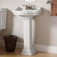 20 Fascinating Bathroom Pedestal Sinks | Home Design Lover