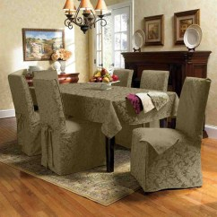 Parson Chairs Covers Bar Height Pub Table And 20 Assorted Dining Room Seat | Home Design Lover