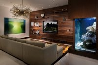 22 Contemporary Living Room Designs with Fish Tanks | Home ...