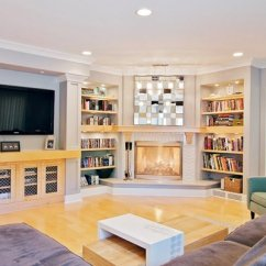 Design Living Room With Corner Fireplace Color Idea 20 Appealing In The Home Lover Dual Bookcases