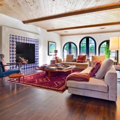 Modern Living Room With Persian Rug Neutral Colors For And Dining 20 Marvelous Mexican Rooms | Home Design Lover