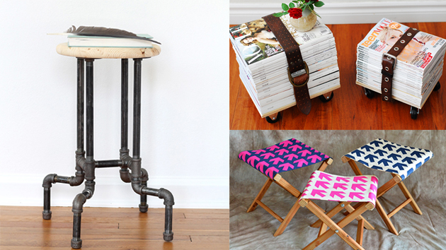 20 Amazing Ways to DIY a Stool for Your Home  Home Design