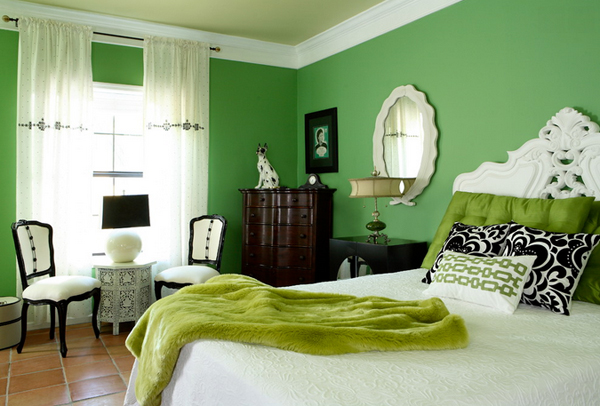 20 Wishfully Beautiful White And Green Bedrooms Home Design Lover