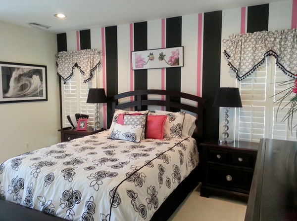 20 Gorgeous Pink And Black Accented Bedrooms Home Design