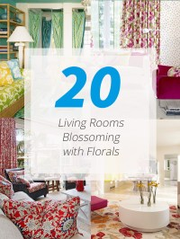 20 Living Rooms Blossoming with Florals