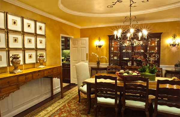 20 Ways to Use Gold Accents in the Dining Room  Home