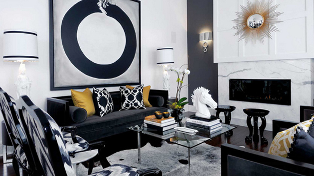 orange chair salon office officeworks 20 attractive black sofa living room | home design lover