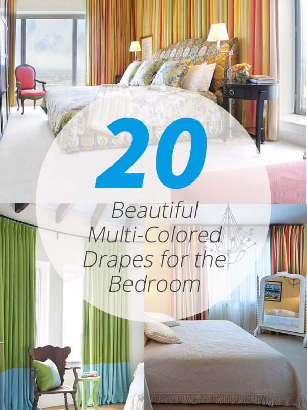 20 Beautiful Multi Colored Drapes For The Bedroom Home Design Lover