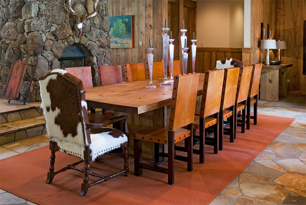 kensington leather chair conference room table and chairs cowhide dining grace 20 lovely areas | home design lover