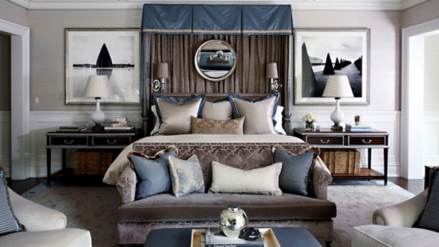 20 blue white and brown bedroom ideas