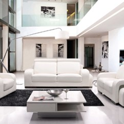 Leather Furniture Ideas For Living Rooms Table And Chairs Room 20 Stunning White | Home ...