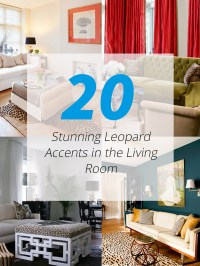 20 Stunning Leopard Accents in the Living Room | Home ...