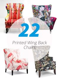 22 Gorgeous Printed Wing Back Chairs   Home Design Lover
