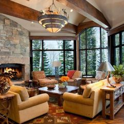 Modern Brown Leather Sofa Reclining 2 Seat 20 Cozy Rustic Chairs In Living Room For A Warm Appeal ...